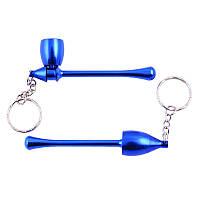 Трубка для курения-брелок Капля (синяя)