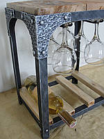 Настольная подставка-бар для вина LoftStyle (арт. 054)