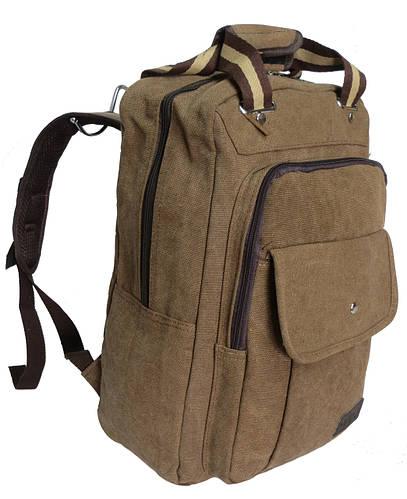 Городской рюкзак с отделом для планшета, 15 л. Wendesi 419, коричневый