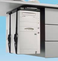 CPU-72BN крепеж системного блока к нижней части стола. Регулируемые ремни. Выдвижной и поворотный механизм для облегчения доступа к компьютеру.