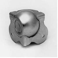 Угловая связка C1351/01z шаровая 52x52мм сталь 1,5мм оцинкованная. Штамп под профиль 31х31мм. Совместим с проф, фото 1