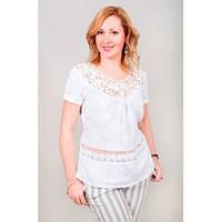 Красивая летняя блузка  для полных  женщин
