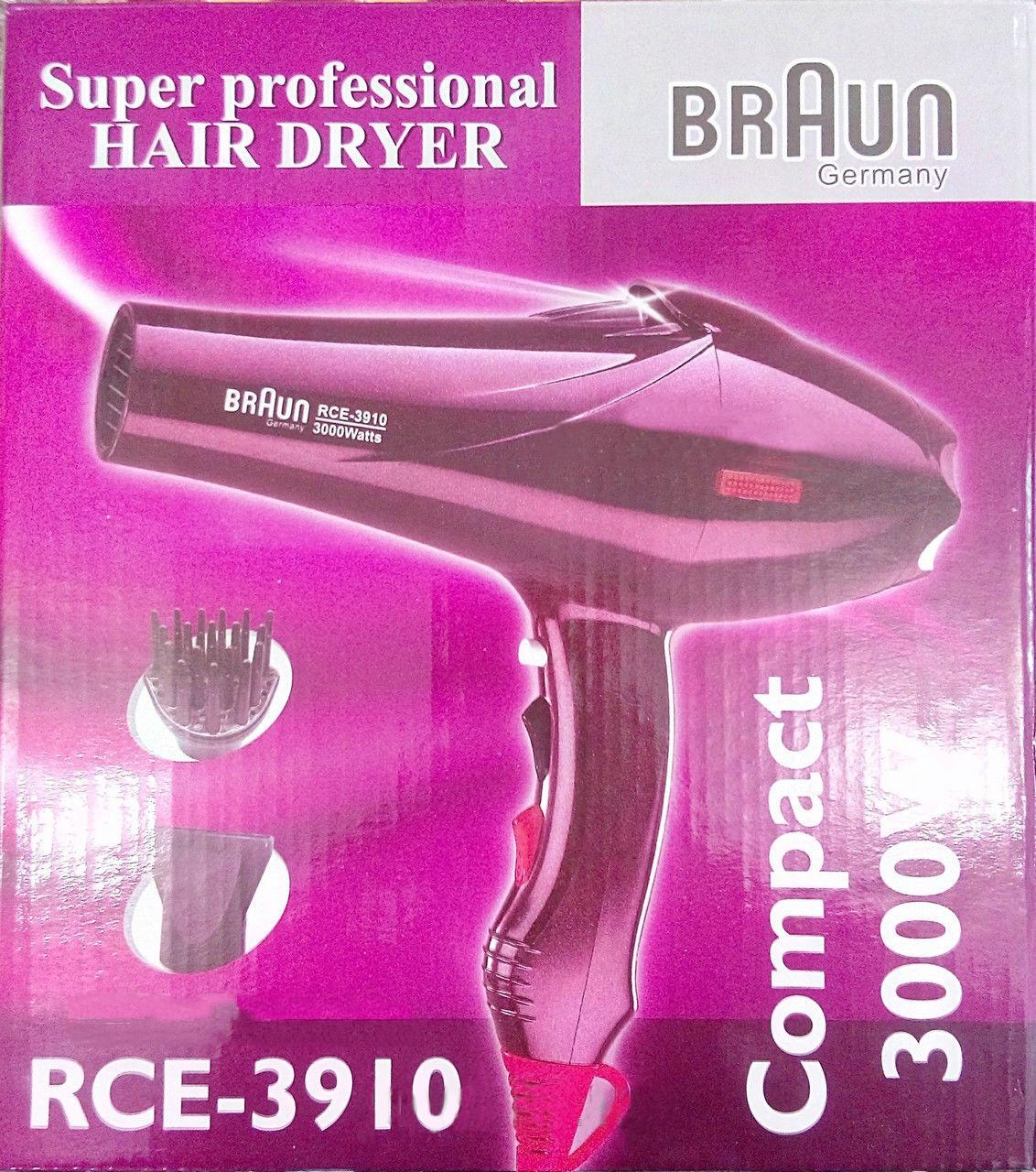Фен для сушки волос Braun Super Professional Hair Dryer RCE-3910