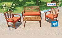 Деревянная мебель для дачи, комплект «Olivia», 4 предмета, древесина черешни Меранти, Малайзия