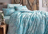 Комплект постельного белья из бамбука и хлопка LUCCA V03 TURKUAZ Tac