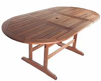 Раскладной деревянный стол, овальный/прямоугольный, из древесины черешни Меранти, Малайзия