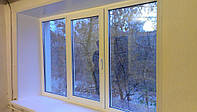 Трехстворчатое окно KBE  2100 * 1400 недорого