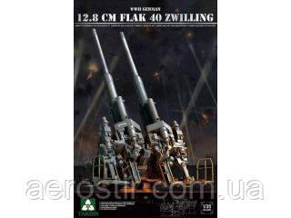 12,8 cm FLAK 40 Zwilling    1\35  TAKOM 2023
