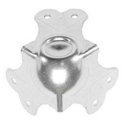 Угловая связка C1341/31-35z шаровая 65х65мм сталь 1,8мм оцинкованная. Штамп под профиль 35х35мм. Есть выемка д, фото 1