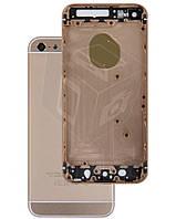 Корпус для iPhone 5S имитация в стиле iPhone 6, черный (Gold)