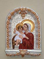 Изделия из гипса и бетона. Богородица с ребенком из гипса