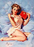 Печать съедобного фото - А4 - Вафельная бумага - Девушка №1