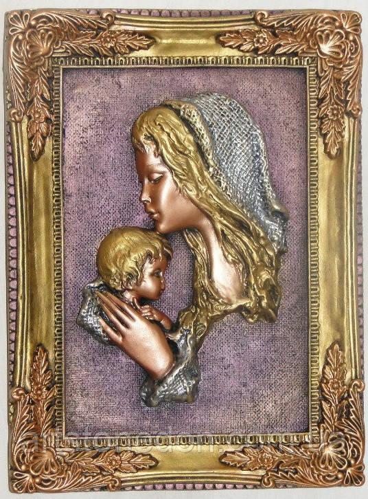 Панно Мать и дитя из гипса