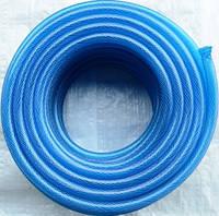 """Шланг  для полива армированный  нитью  (прозрачный  цветной) """"Стандарт"""" - 3/4"""" (19мм), длина 50м."""