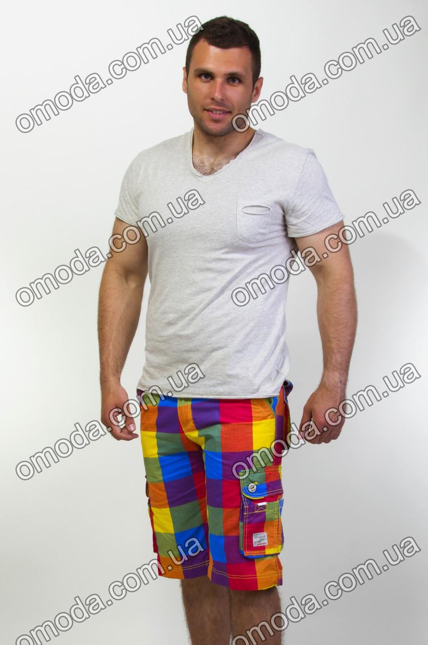 Мужские яркие шорты в клетку