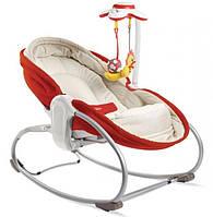 Кресло - кроватка - качалка 3 в 1 «Мамина любовь» (красное)