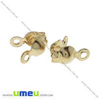 Каллоты, 8х4 мм, Золото, 20 шт (ZAG-015530)
