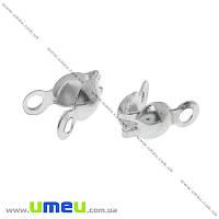 Каллоты, 8х4 мм, Светлое серебро, 20 шт (ZAG-015532)