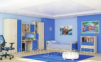 Спальня Денди, набор корпусной мебели, красный/синий/зеленый
