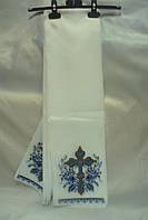 Полотенце на крест голубой крест (120см х20 см)