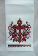 Полотенце на крест красный крест (120см х20 см)