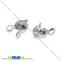 Каллоты, 7х3,5 мм, Темное серебро, 20 шт (ZAG-015533)