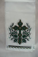 Полотенце на крест зеленый крест (120см х20 см)