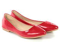Женские балетки красного цвета