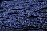 Тесьма акрил 6мм (50м) т.синий, фото 1