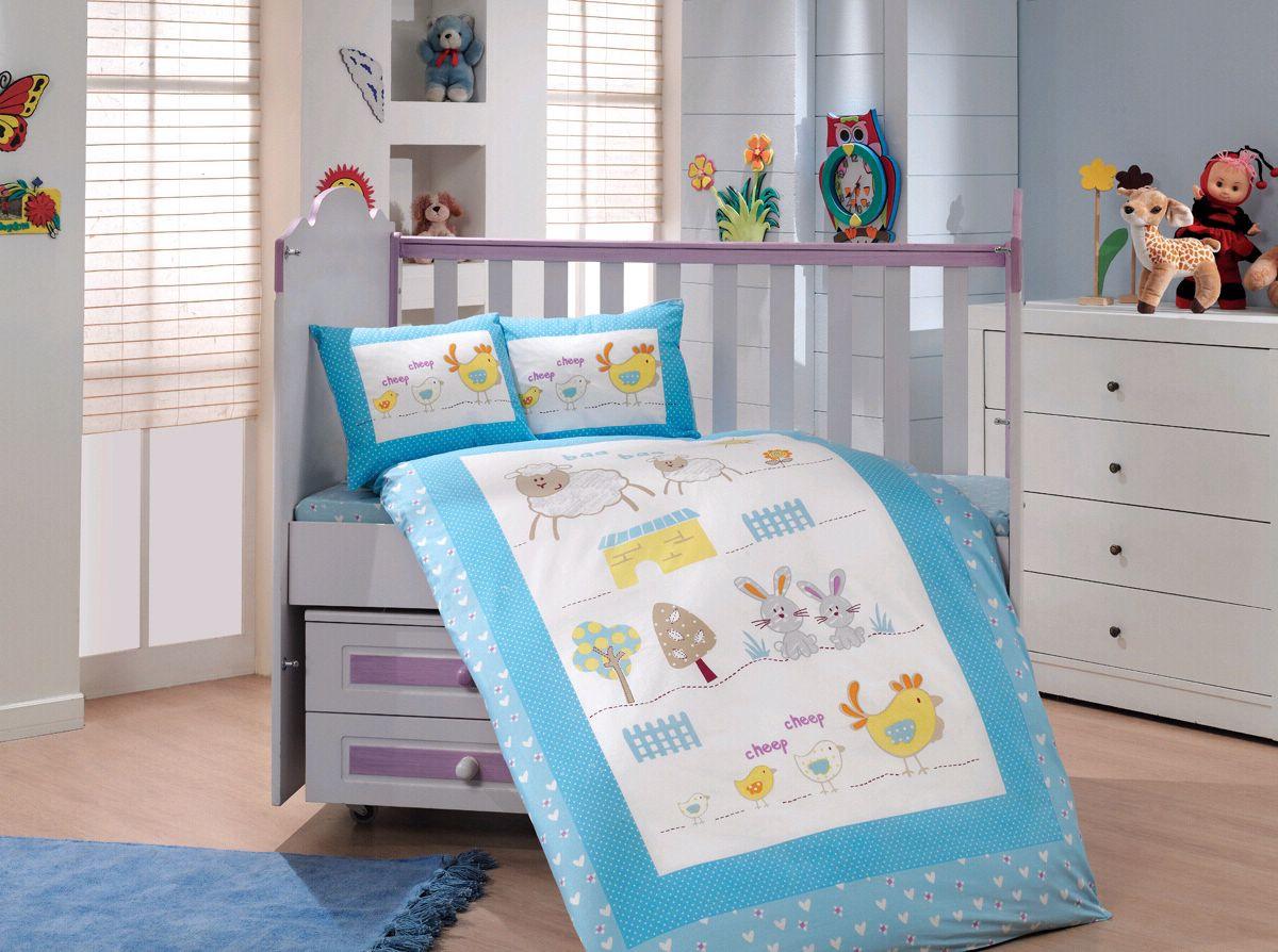 Комплект детского постельного белья Zoo (Голубой), Hobby