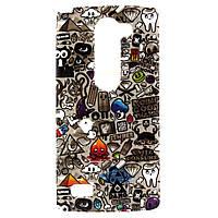 Чехол накладка для LG Leon H324 Y50 силиконовый IMD, Daddy Was A Jewel Thief