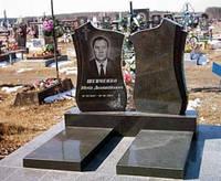 Памятник гранитный на могилу двойной