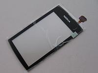Тачскрин / сенсор (сенсорное стекло) для Nokia Asha 305 | 306 (черный цвет) + СКОТЧ В ПОДАРОК