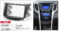2-DIN переходная рамка HYUNDAI i-30 2012 и выше, Elantra GT (GD) 2012 и выше, CARAV 11-184