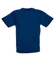 Детские футболки  Унисекс Fruit of the loom темно-синий, 12-13