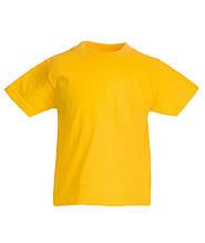Детские футболки  Унисекс Fruit of the loom солнечно-желтый, 7-8