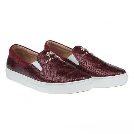 Слипоны бордового цвета для модных женщин от carlo pachini (практические,  модные, на белой подошве) 666847d793b