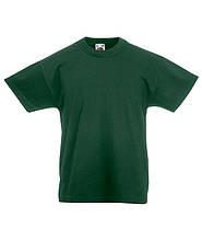 Детские футболки  Унисекс Fruit of the loom темно-зеленый, 14-15