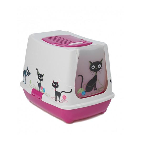 Moderna МОДЕРНА ТРЕНДИ КЭТ УЗОР закрытый туалет для кошек