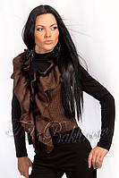 Женские жилетки,жилетки с натуральным мехом, укороченные женские жилетки