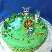 """Детский торт на заказ """"Семейка Зайки"""""""