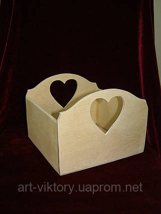 Короб с сердечками (19,5 х 19,5 х 15 см), фото 2