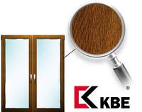 Окно металлопластиковое KBE 70 мм, золотой дуб