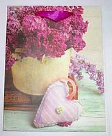 Пакет подарочный Сирень в вазе