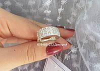 Кольцо с россыпью камней серебро 925