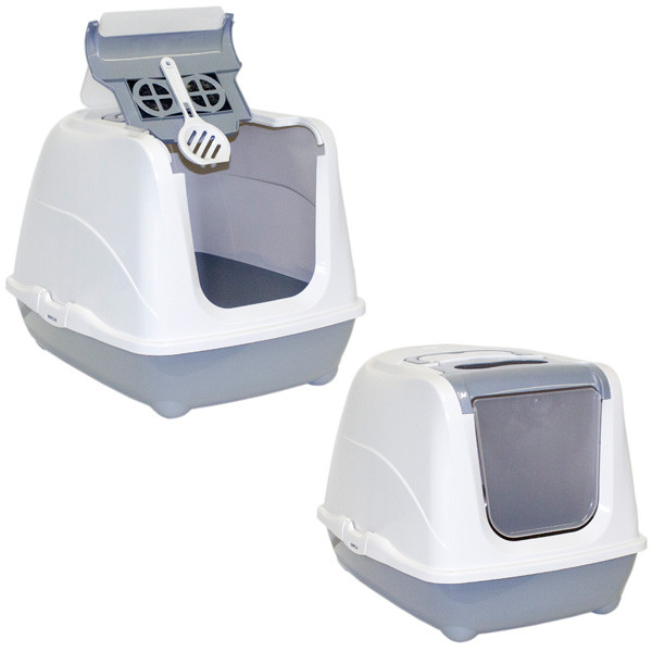 Moderna МОДЕРНА ФЛИП КЭТ ДЖУМБО закрытый туалет для кошек, с откидной крышкой