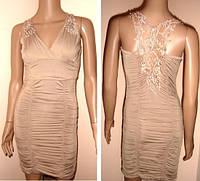 Платье с ажурной спинкой размер 40-44