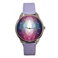 Женские наручные часы «Фиолетовые ромбы», фото 1