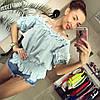 Блуза коттон с кружевом , фото 3