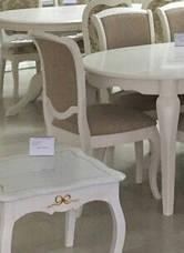 Стул обеденный деревянный Empire -EP-SC (Эмпайр) цвет  белый, Малайзия, фото 2